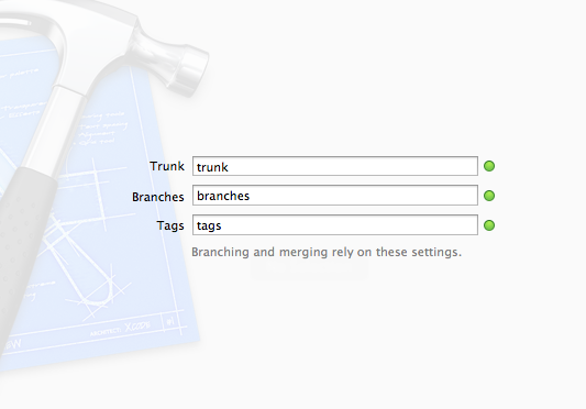 Configuring Trunk, Branch and Tags in Xcode 4
