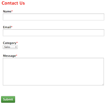 CakePHP Contact Form View