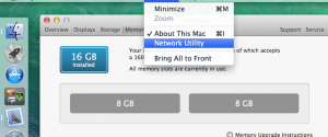 Launch Network Utility under Mavericks
